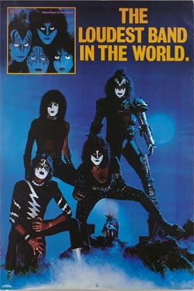 KISS - Creatures Of The Night - promo album poster - the loudest band in the world - #1982
