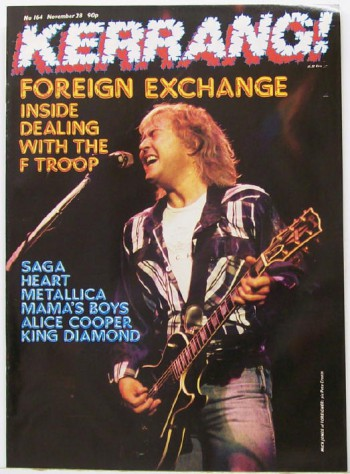 Mick Jones - Foreigner - Kerrang! - Promo Mag Cover - #Nov281988