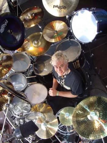Nigel Glockler - Saxon Drummer - publicity pic - #2014NG