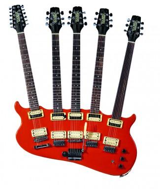 Rick Nielsen - original orange five neck guitar - Hamer