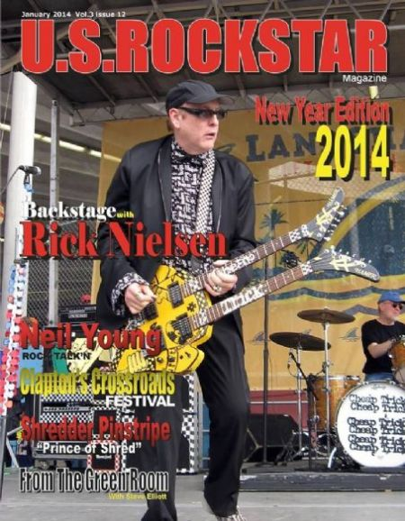 Rick Nielsen - US Rockstar - promo magazine cover - January - 2014