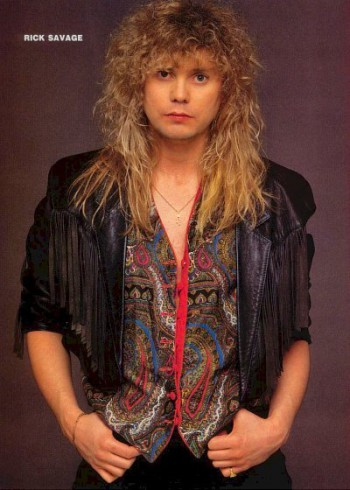 Rick Savage - publicity photo - circa mid - 80s - #777RS