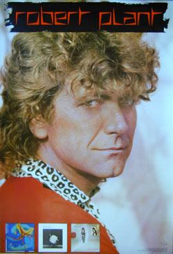 Robert Plant - promo album poster pic - 1980s - #121714