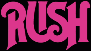 RUSH - classic band logo - magenta - #2014GLNPAL