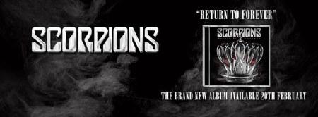 Scorpions - Return To Forever - promo album banner - 2014 - #1224MJ