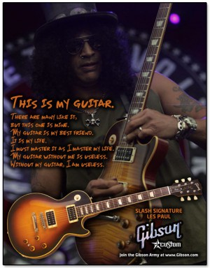 Slash - Gibson Guitar - promo ad - flyer - #33SG