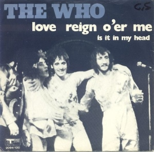 The Who - Love Reign o'er Me - promo 45rpm single cover sleeve - #1973