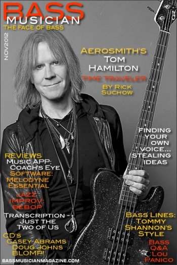 Tom Hamilton - Bass Musician - promo magazine cover - #2012TH
