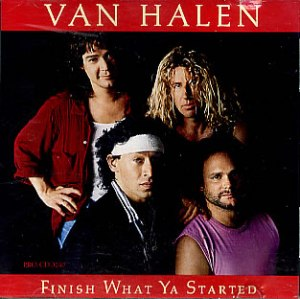 Van Halen - Finish What Ya Started - promo CD - cover sleeve