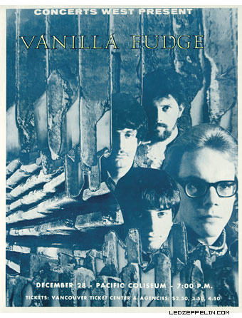 Vanilla Fudge - Led Zeppelin - promo flyer -