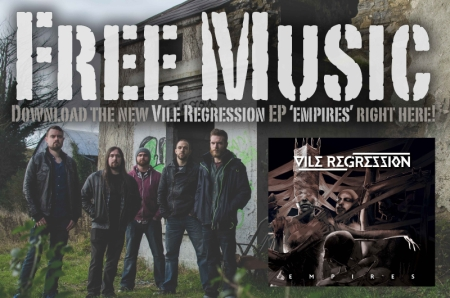 Vile Regression - Free Music - Empires - album promo flyer - 2014