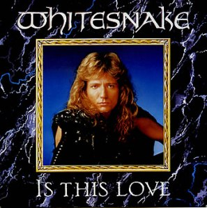 Whitesnake - Is This Love - 45rpm single cover sleeve promo - 1987DC
