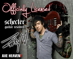 Zacky Vengeance - Schecter Guitar - promo flyer ad - #2014ZV