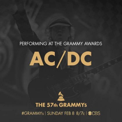 ACDC - 57th Grammys - promo flyer - #2015FEB8
