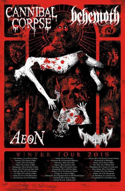Behemoth - Cannibal Corpse - Aeon - promo tour poster - #2015BCCAMO