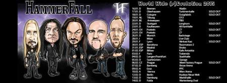 Hammerfall - promo tour flyer - winter - 2015 - #H1MO1