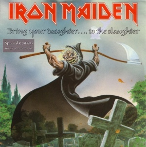 Iron Maiden - Bring Your Daughter To The Slaughter - special edition - promo cover pic - #1991BDSH