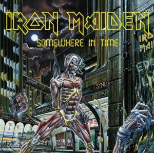 Iron Maiden - Somewhere In Time - promo album cover pic - #1985 SHBD