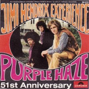 Jimi Hendrix Experience - Purple Haze - 45rpm - promo cover sleeve - #1967JHE