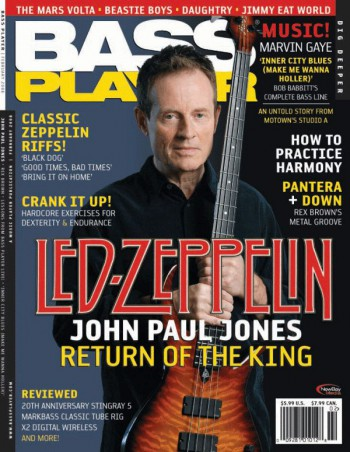 John Paul Jones - Led Zeppelin - Bass Player magazine cover promo - #2008