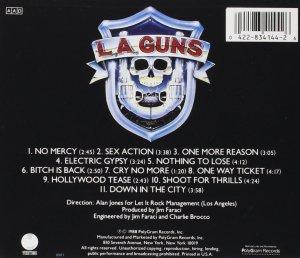 L.A. Guns - CD back cover promo pic - #1988TG