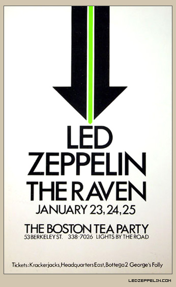 Led Zeppelin - Boston Tea Party - 1969 - promo concert flyer