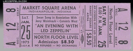 Led Zeppelin - Market Square Arena - Indianapolis - #1975MO