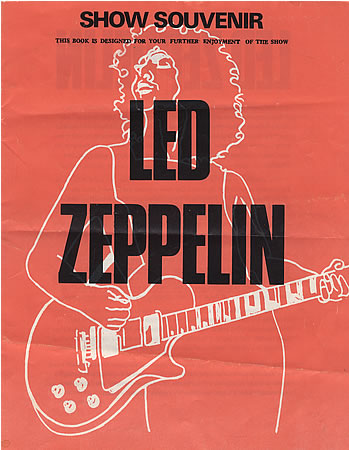 Led Zeppelin - Tour Program - promo photo - UK - Nov 1972 - 73