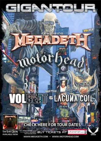 Megadeth - Gigantour - 2012 - promo flyer - #MO