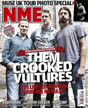NME Magazine Cover Promo - Joshua Homme - David Grohl, John Paul Jones - 2009