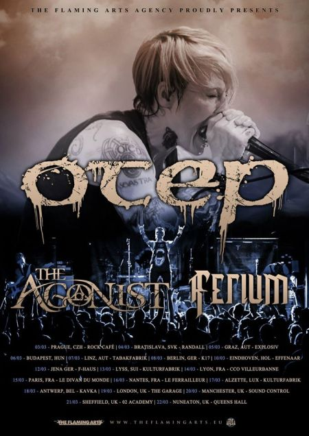 Otep - Ferium - The Agonist - Tour Flyer - March 2015 - #01OM