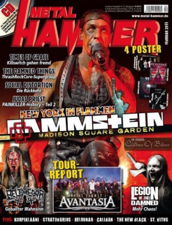 Rammstein - Metal Hammer - cover promo pic - Feb - 2011
