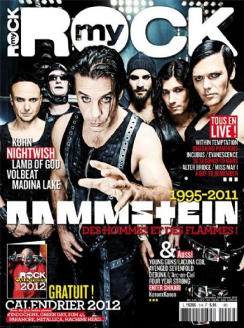 Rammstein - My Rock - promo magazine cover - jan - 2012