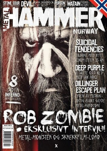 Rob Zombie - Metal Hammer - Norway issue - May - 2013 - #RZ1