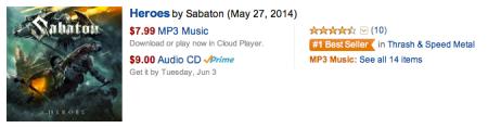 SABATON - Heroes - Amazon - #1 - 2014