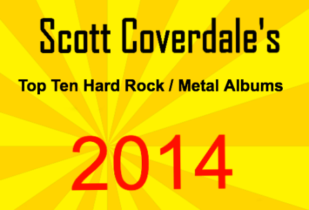 Scott Coverdales - 2014 Top Ten Hard Rock - Metal Albums - Metal Odyssey Banner Box - #01MO