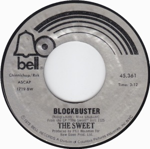 Sweet - Blockbuster - 45rpm - promo pic - #1973TSMO