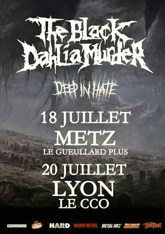 The Black Dahlia Murder - Deep In Hate - tour flyer - #2015TBDMMO