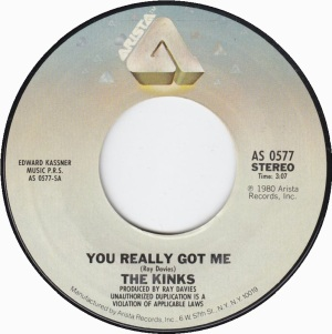 The Kinks - you really got me - arista records - 45rpm