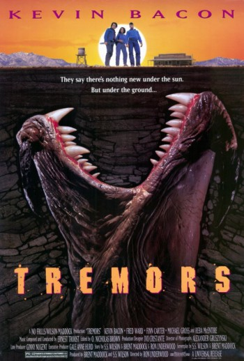 Tremors - Kevin Bacon - promo movie poster - #1990KBMO