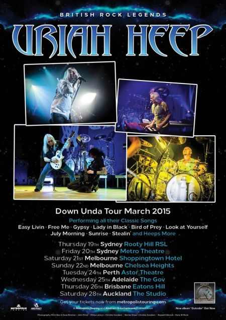 Uriah Heep - Australia March Tour Promo Flyer - #2015