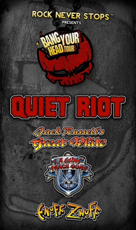 Bang Your Head Tour - Quiet Riot - Summer Tour 2015 - promo flyer pic - #33QRMO