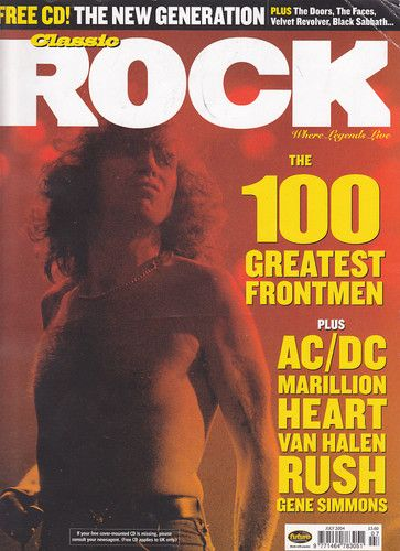 Bon Scott - Classic Rock Magazine - promo cover - UK - July 2004 - #33BSMO