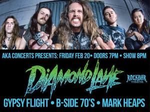 Diamond Lane - promo concert flyer - San Jose - Rockbar - Feb - 20 - 2015 - MODL33
