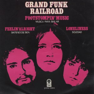 Grand Funk Railroad - Footstompin Music - Mexican 45rpm cover sleeve - 1972
