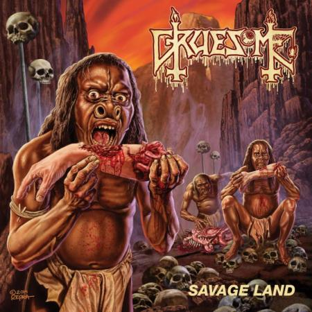 Gruesome - Savage Land - promo album cover pic - #2015MOG0223