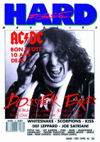 Hard Force Magazine - Bon Scott - Fr- Jan - 1990 - #33BSMO
