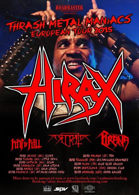 Hirax - Thrash Metal Maniacs - European Tour - 2015 - #33