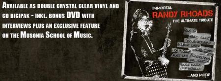 Immortal Randy Rhoads - The Ultimate Tribute - promo album banner - #2015RRMOL