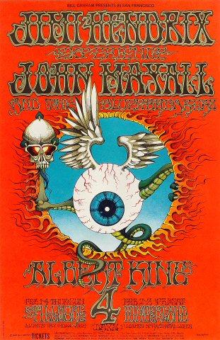 Jimi Hendrix Experience - 1968 - Fillmore - San Francisco - concert flyer promo - February 1968